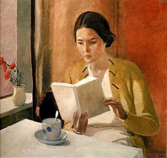 Woman reading - Alexander Deineka, 1934